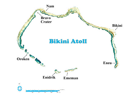 Bikini Atoll Map Marshall Islands Program: Bikini Atoll